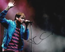 Tom Chaplin Autograph Signed Photo - Keane